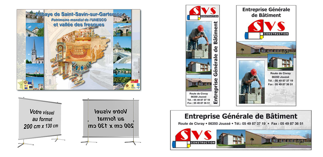 Roll-up grand format et annonces presse par PTLB communication